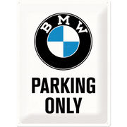 BMW Parking Only kyltti 30x40cm