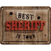 Kyltti Best Sheriff in town 15x20cm