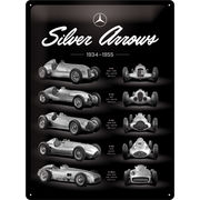 Mercedes Benz-Silver Arrow Kyltti 30x40cm