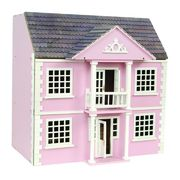 Nukkekoti Newnham Manor Dolls House  pinkki
